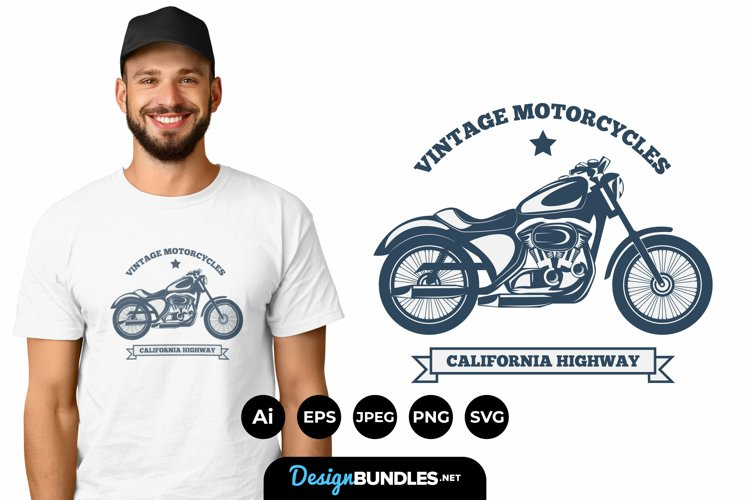 Vintage Motorcycle for T-Shirt Design example image 1