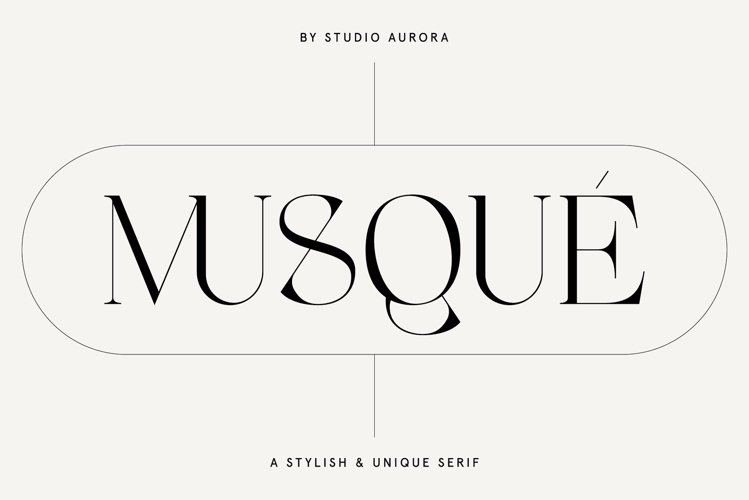 Musque Unique Elegant Display Font example image 1