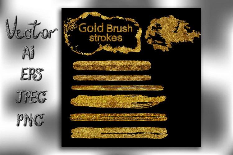 Glitter gold brush strokes. example image 1