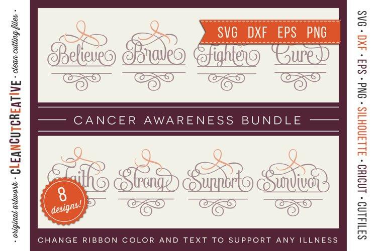 CANCER AWARENESS BUNDLE- any cause SVG cut file design