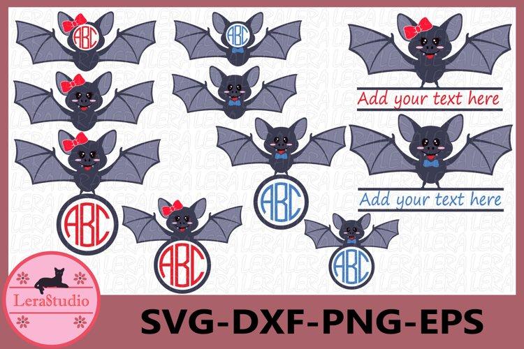Bat Monogram SVG, Bat svg, Bat clipart, Silhouette, clipart example image 1