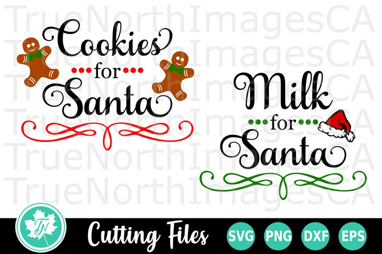 Christmas SVG | Santa SVG | Cookie Plate SVG example image 1