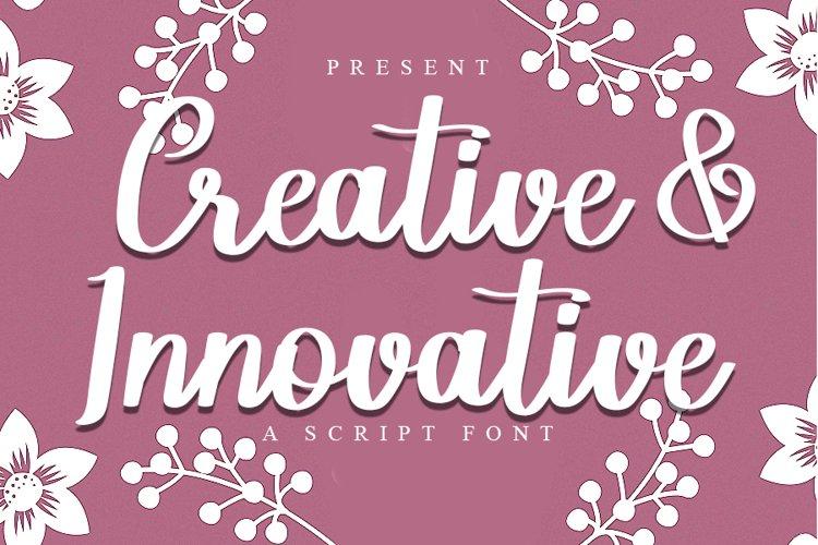 Creative & Innovative | A Script Font example image 1