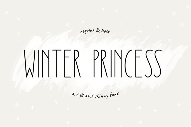 Winter Princess   Regular & Bold Style example image 1