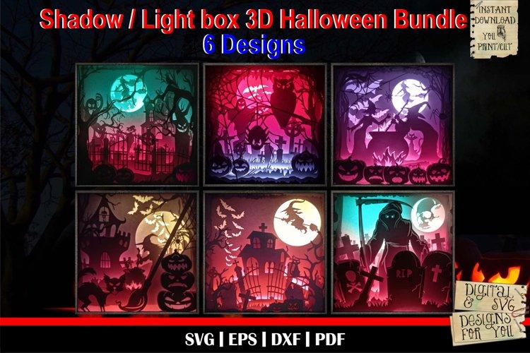Halloween Bundle | 3D Light box Paper svg | 6 Designs