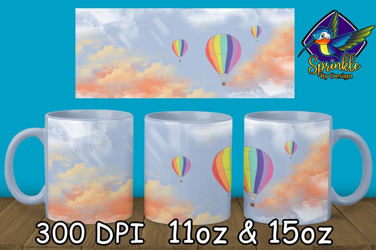 Hot Air Balloon Mug Sublimation - Sublimation Mug Designs example image 1