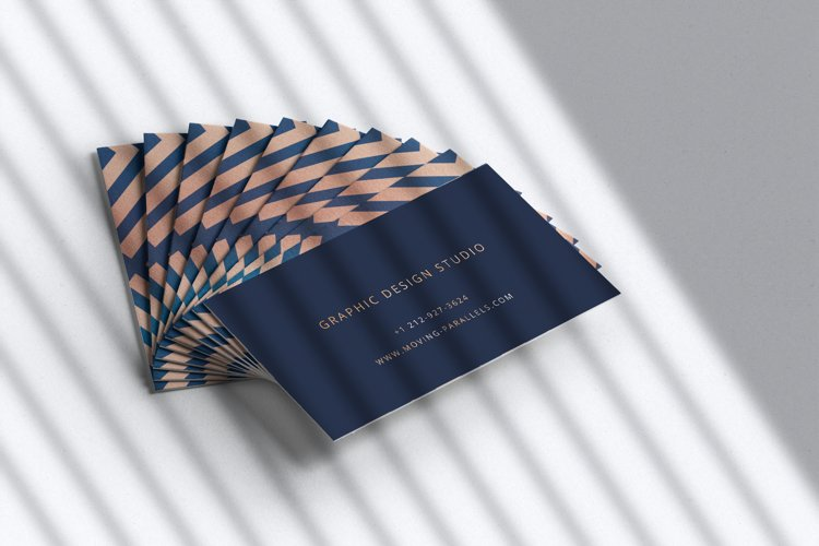 Elegant Gold Business Card 5 example image 1