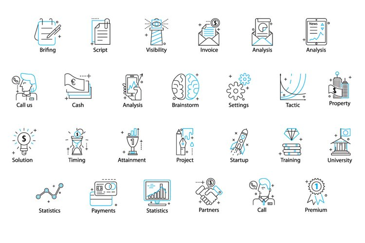78 PERFECT LINE ICONS example 3