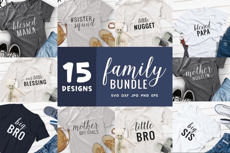 Family Svg Bundle | 15 Designs Sister Brother Mother Father