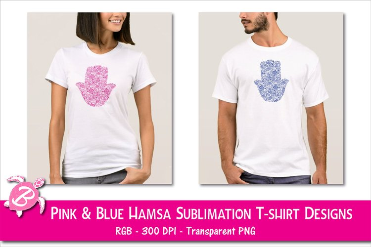 Sublimation Designs For T Shirts - Hamsa Hands example image 1