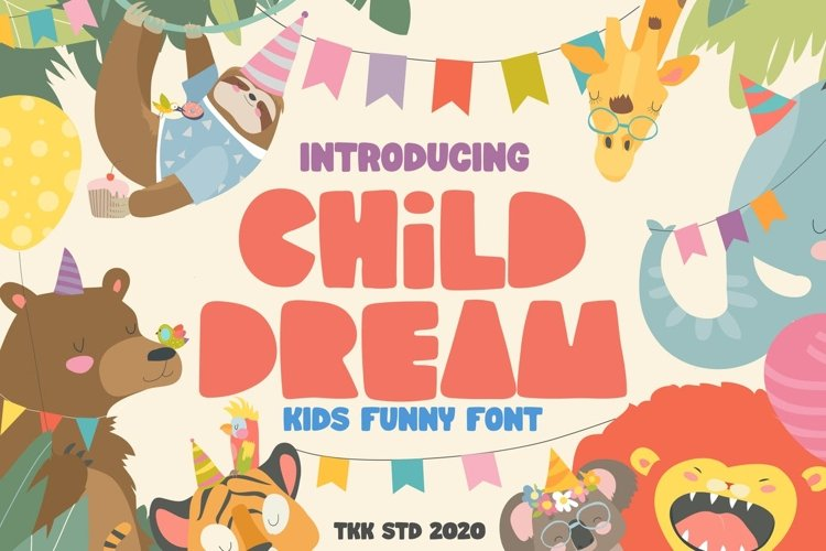 Child Dream - Kids Block Font example image 1