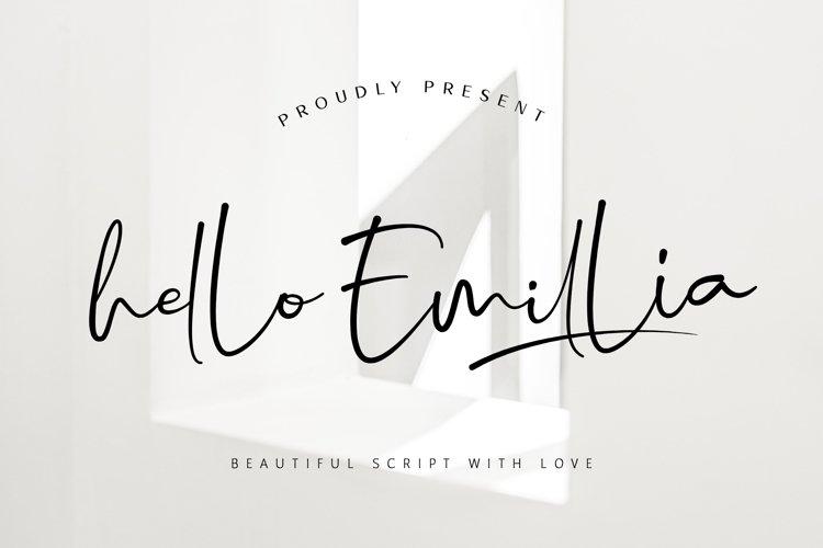 Hello Emillia Script example image 1