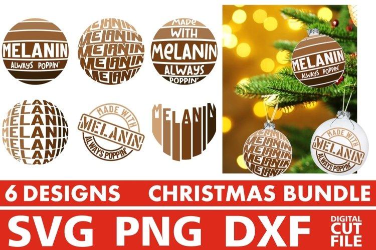 Christmas svg Bundle, Christmas Ornaments, Melanin, Afro svg example image 1