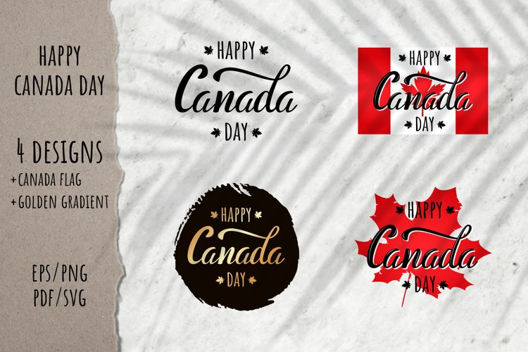 Happy Canada Day Quote | 4 designs | EPS PNG PDF SVG