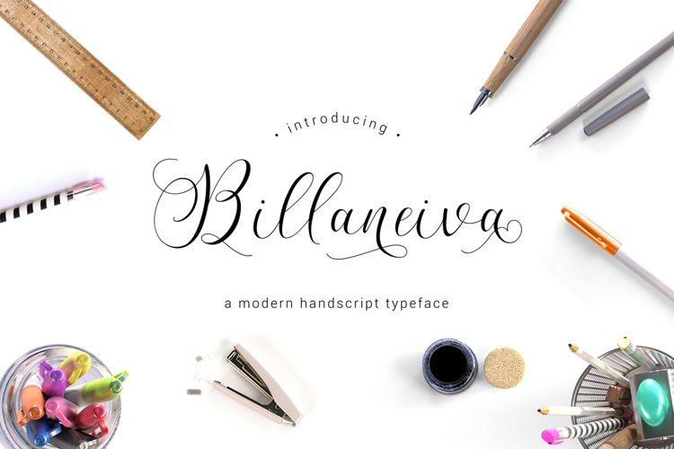 Billaneiva Typeface example image 1