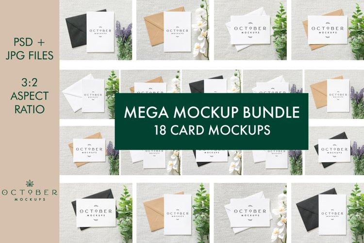 Card Mockup Bundle   Mega Mockup Bundle   JPG and PSD mockup