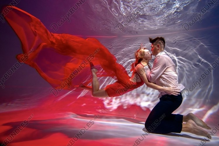 couple in love underwater example image 1