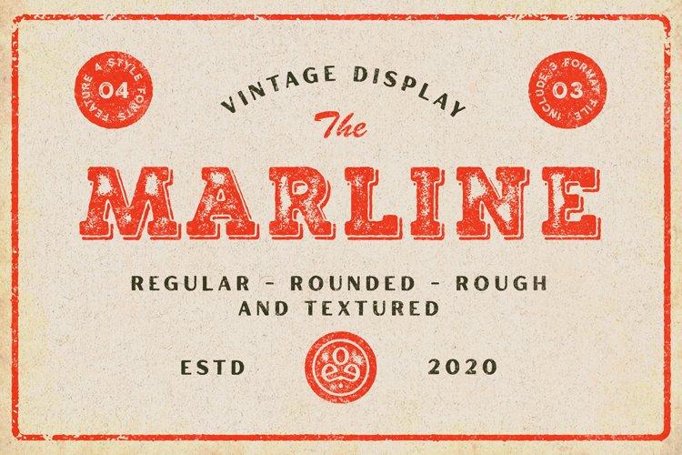 Marline - Vintage Texture Font example image 1