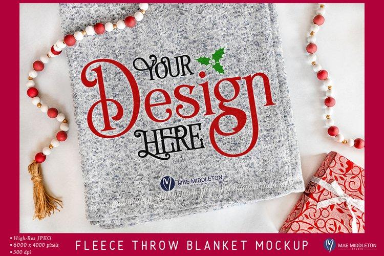 Blanket Mockup | styled photo