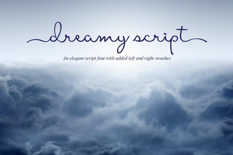 Dreamy Script Swash Font example image 1