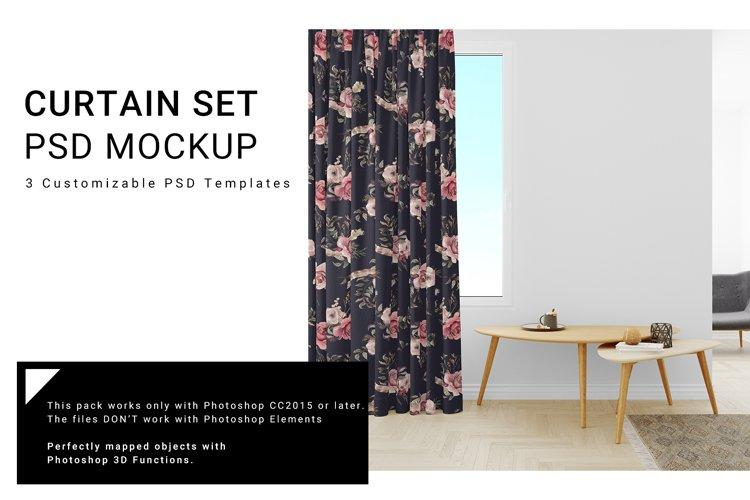 Living Room Curtain Mockup Set example image 1