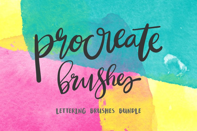 Procreate Lettering 34 Brush Bundle example image 1