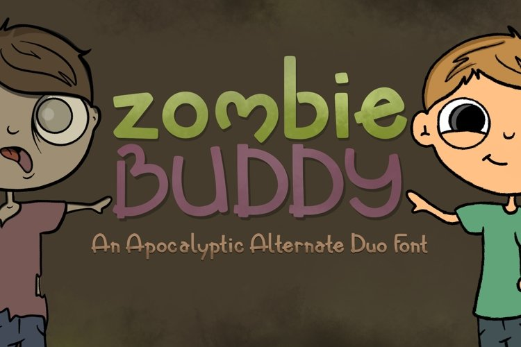 Zombie Buddy  An Apocalyptic Alternate Duo Font example image 1