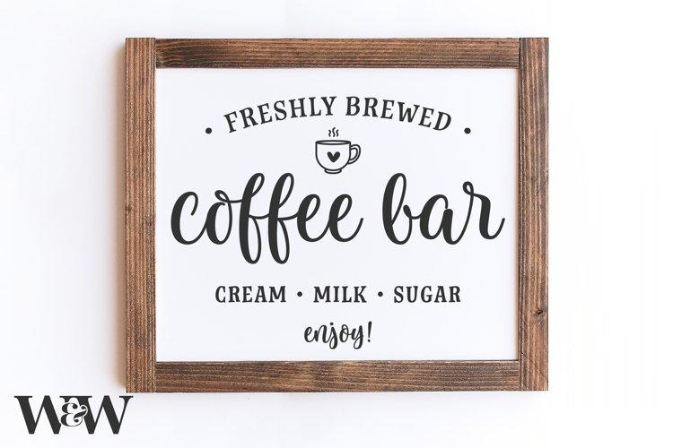 Coffee Bar SVG | Farmhouse Kitchen SVG