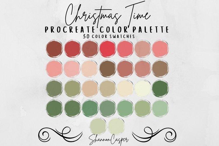 Christmas Procreate Color Palette