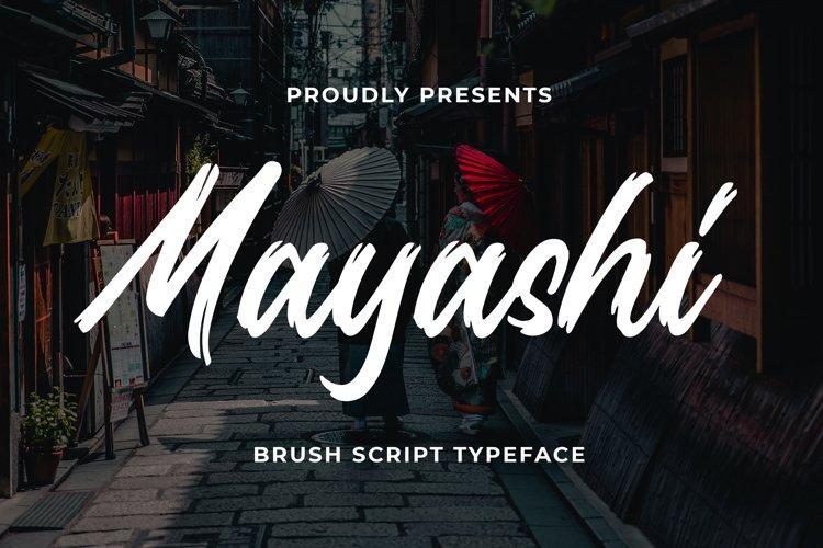 Mayashi - Brush Script Typeface example image 1