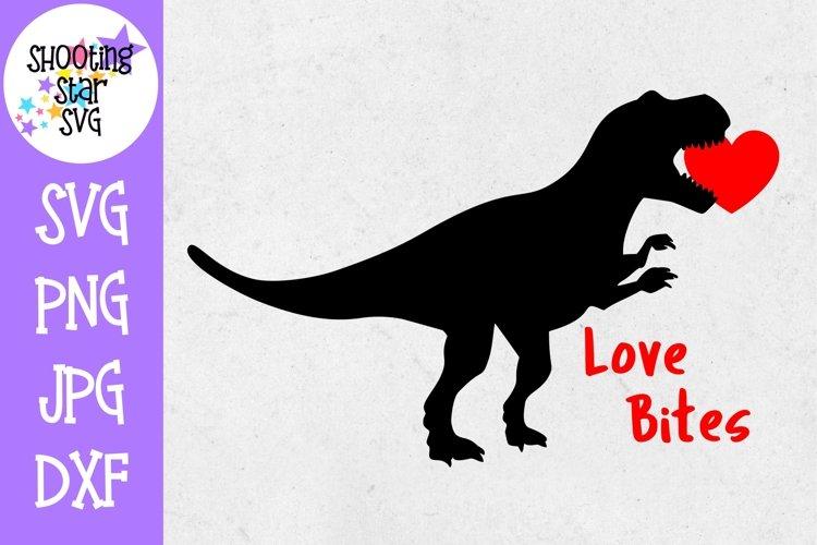 Love Bites Dinosaur - Valentine's Day SVG example image 1
