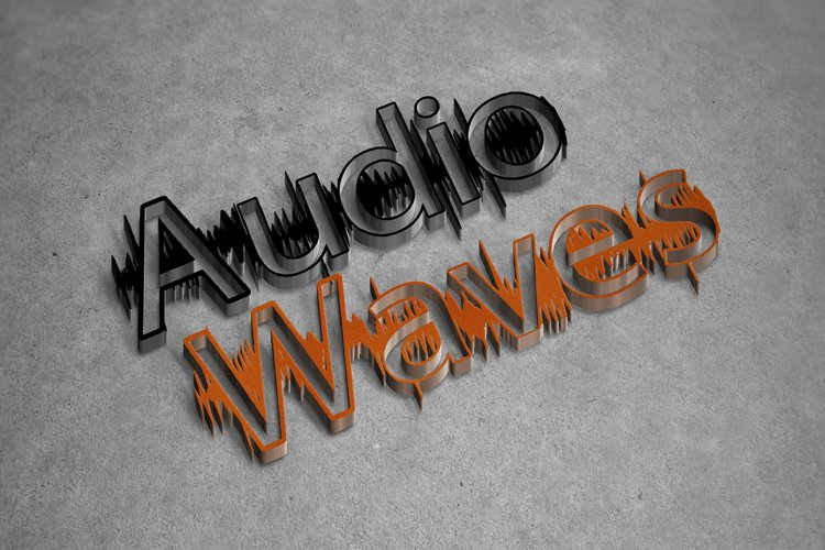 Audio Wave Font | Open Type / Woff example 2