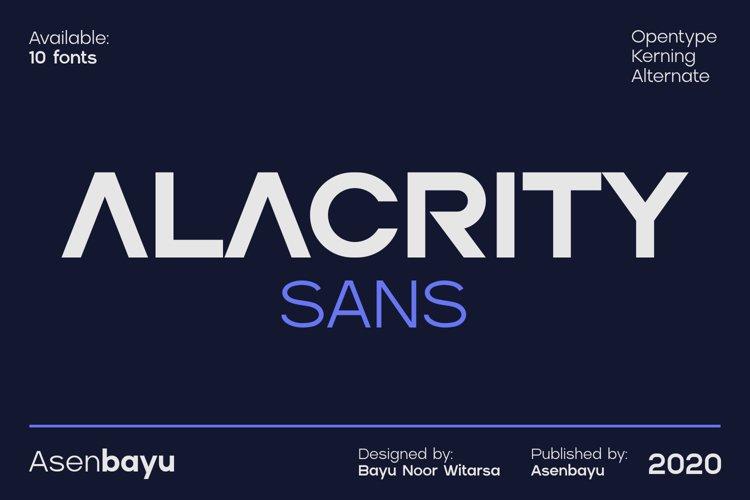 ALACRITY SANS FONTS