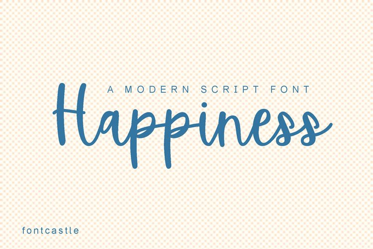 Happiness font example image 1