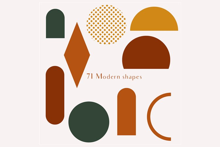 71 Modern shapes clipart illustrations example 5
