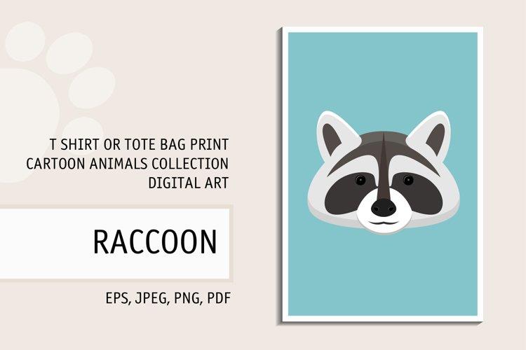 Raccoon Pattern. Raccoon T Shirt Print. Raccoon Clipart. example image 1