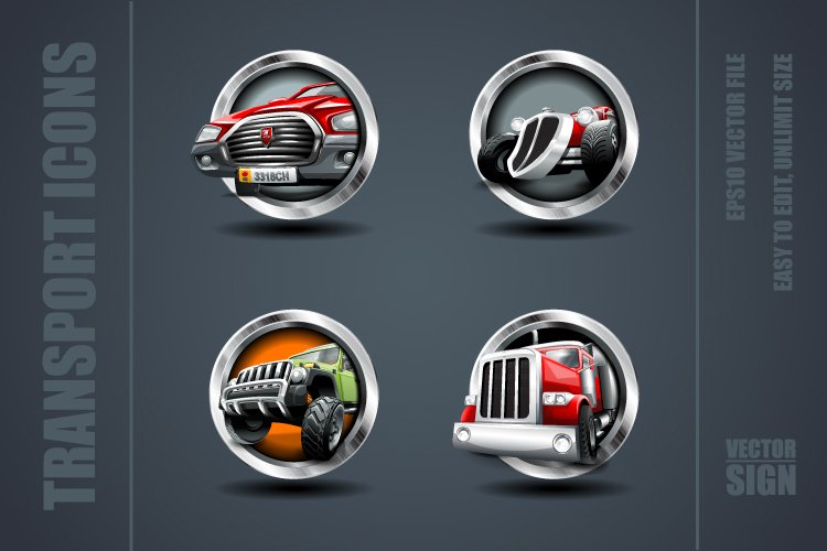 Transport Games Icons