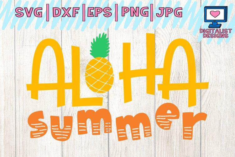 aloha summer svg, beach svg, pineapple svg, svg for cricut design space, dxf, silhouette, summer clipart, beach shirt example image 1