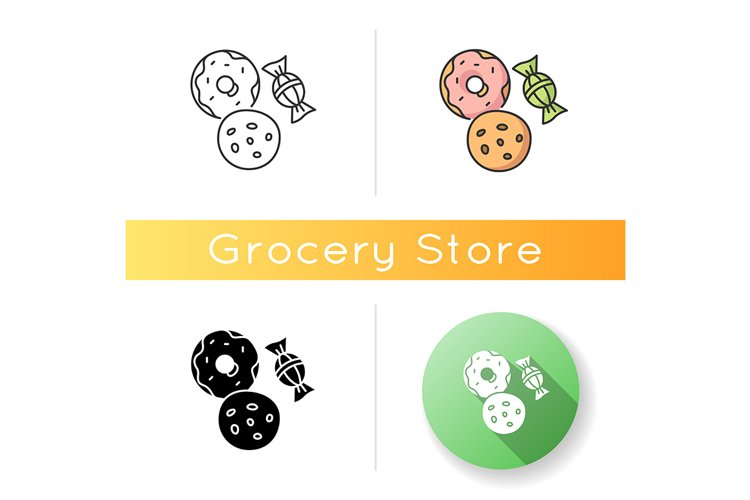 Cookie and candy icon example image 1