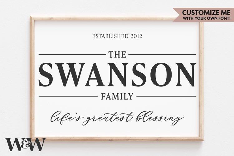 Family Last Name Sign SVG | Lifes Greatest Blessing SVG