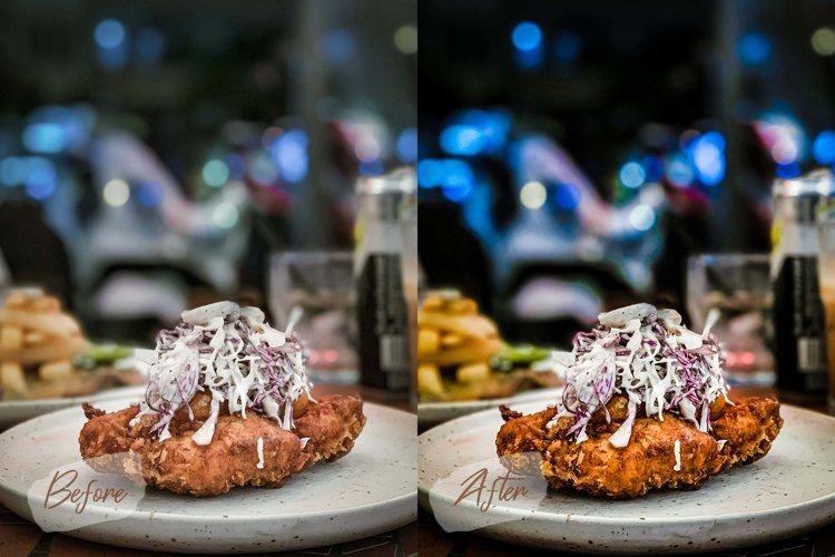 8 Photoshop Actions, ACR and LUT Presets Food blog example image 1