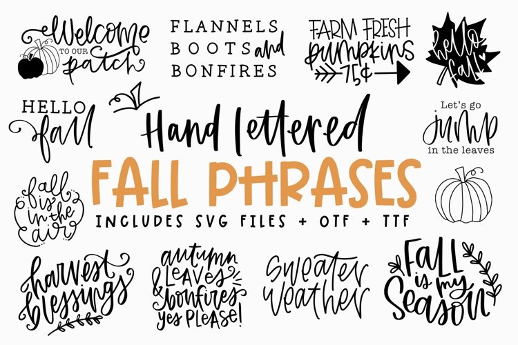 Fall Phrases - SVG and Symbols Font example image 1