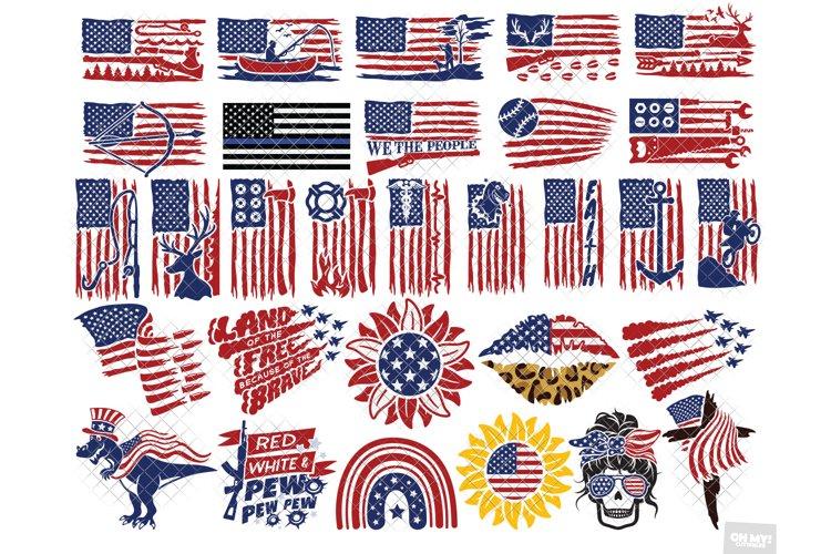 American Flag SVG & Sublimation Bundle Vol. 2 PNG, DXF, EPS