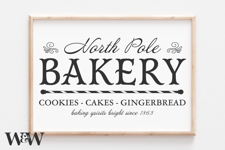 North Pole Bakery SVG |Christmas SVG example image 1