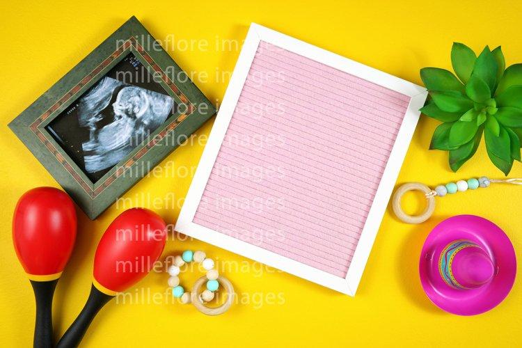 Cinco De Mayo Baby Announcement Letterboard SVG Mockup Photo