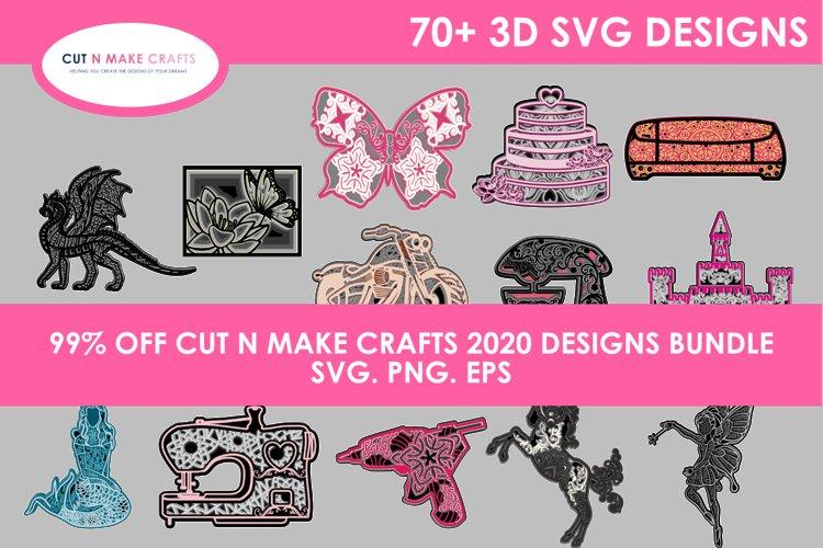 MEGA 3D SVG Bundle with 78 SVG Designs