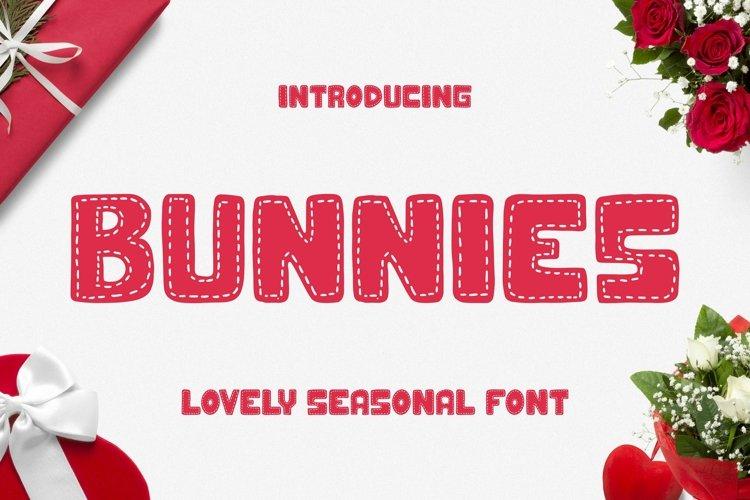 Web Font Bunnies Font example image 1