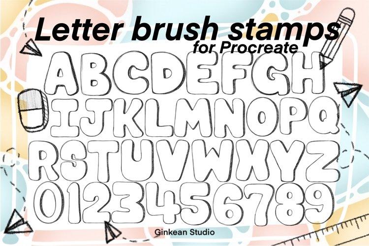 Procreate brushes, letter brush stamps procreate set, brush