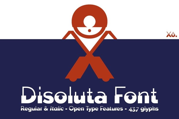 Disoluta font example image 1