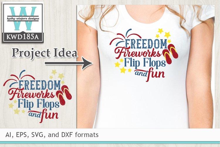 Patriotic SVG - Freedom Fireworks Flip Flops